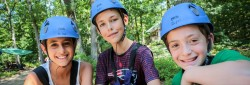 JCC Camp Grossman campers on the ropes course