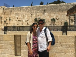 Tara and her dad in Israel