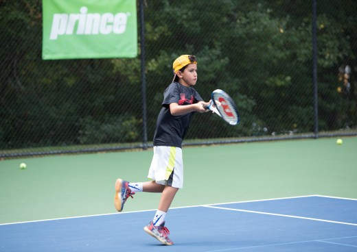 Campers having fun