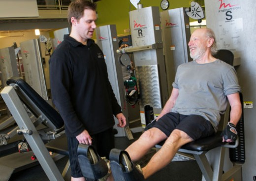 JCC male trainer and client