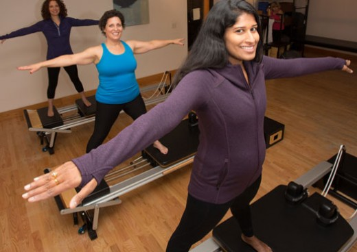 Pilates session in pilates studio at JCC