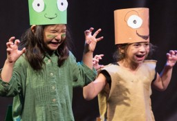 Campers in a play