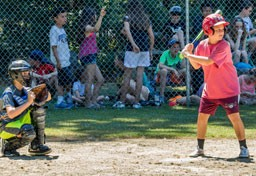 Kingswood campers playing baseball