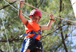 Kingswood camper on ropes course