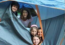 Kingswood campers in outdoor tent