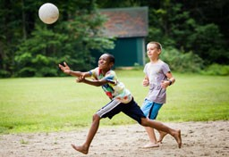 Kingswood campers playing volleyball
