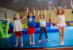 Children in gymnastics