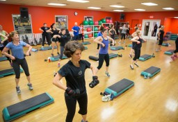 Group fitness class at JCC