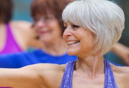 Parkinson's participants in an exercise class at the JCC