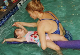Adapted Aquatics instructor and swimmer