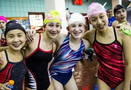Members of the JCC swim club