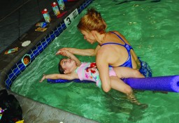 Adapted aquatics swim lesson