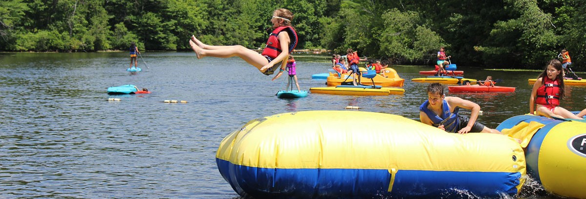 Camp Grossman Water Trampoline