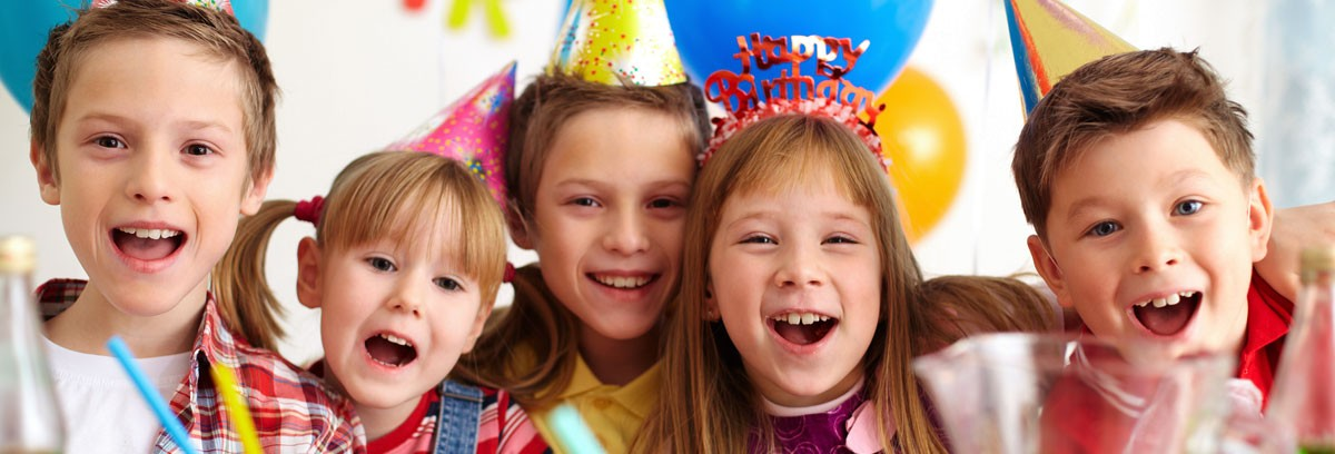 children with party hats